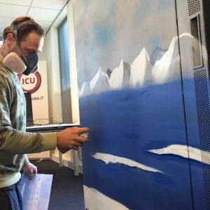 Make-over Coolkast Graffiti-artist